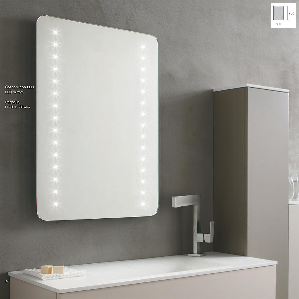 Specchiera LED modello PEGASUS
