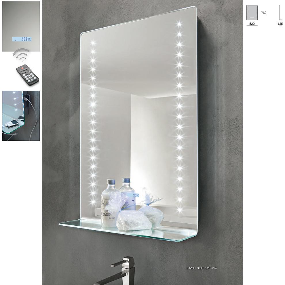 Specchio bagno illuminata led modello leo - Specchio ingranditore ikea ...