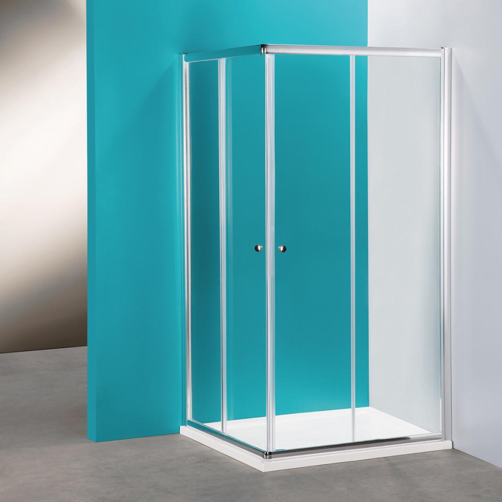 Box doccia angolare rettangolare modello Silver