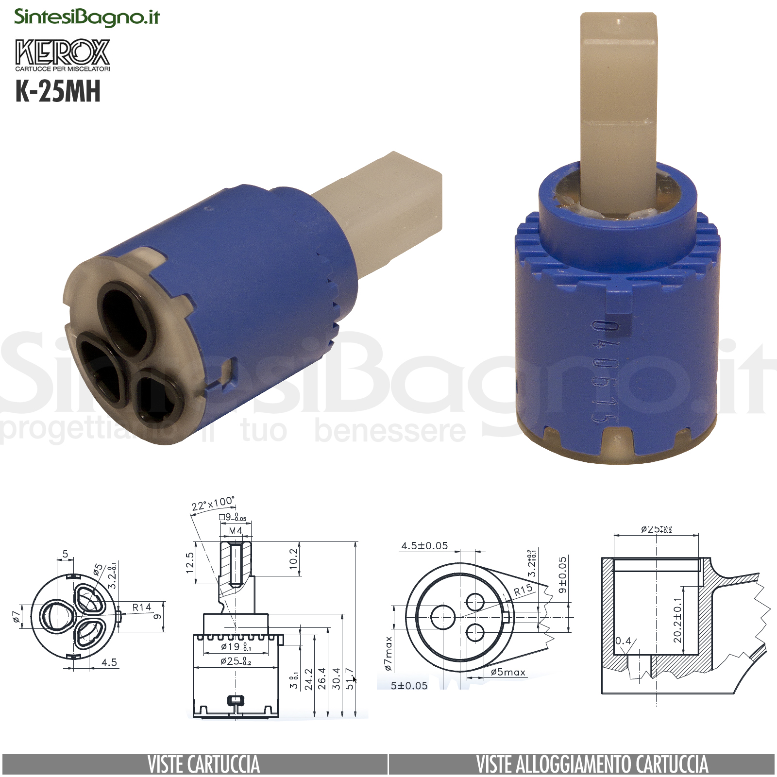 K25-MH-cartuccia-di-ricambio-KEROX-a-dischi-ceramici-per-miscelatore-monocomando-modello-K-25MH
