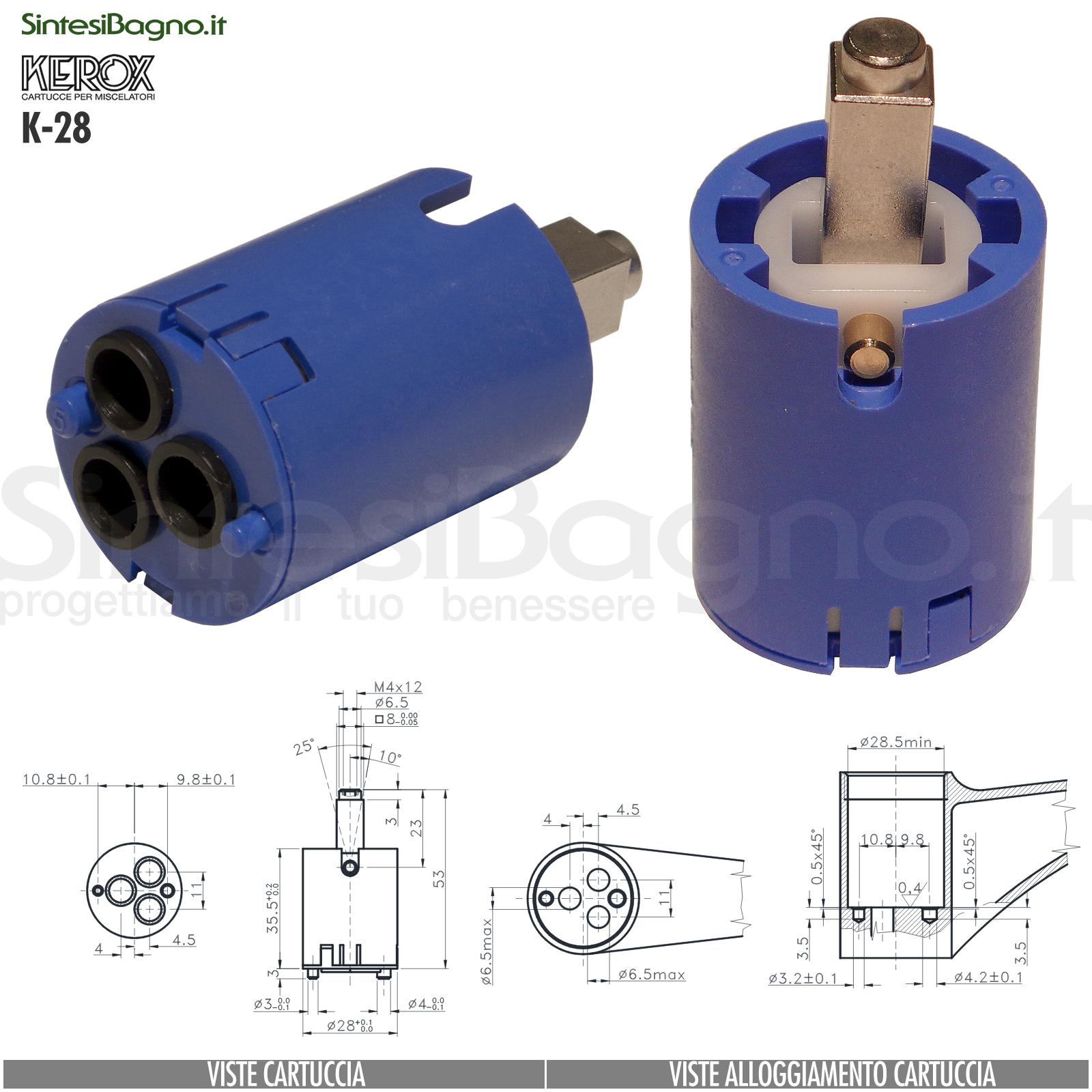 K28-cartuccia-di-ricambio-KEROX-a-dischi-ceramici-per-miscelatore-monocomando-modello-K-28