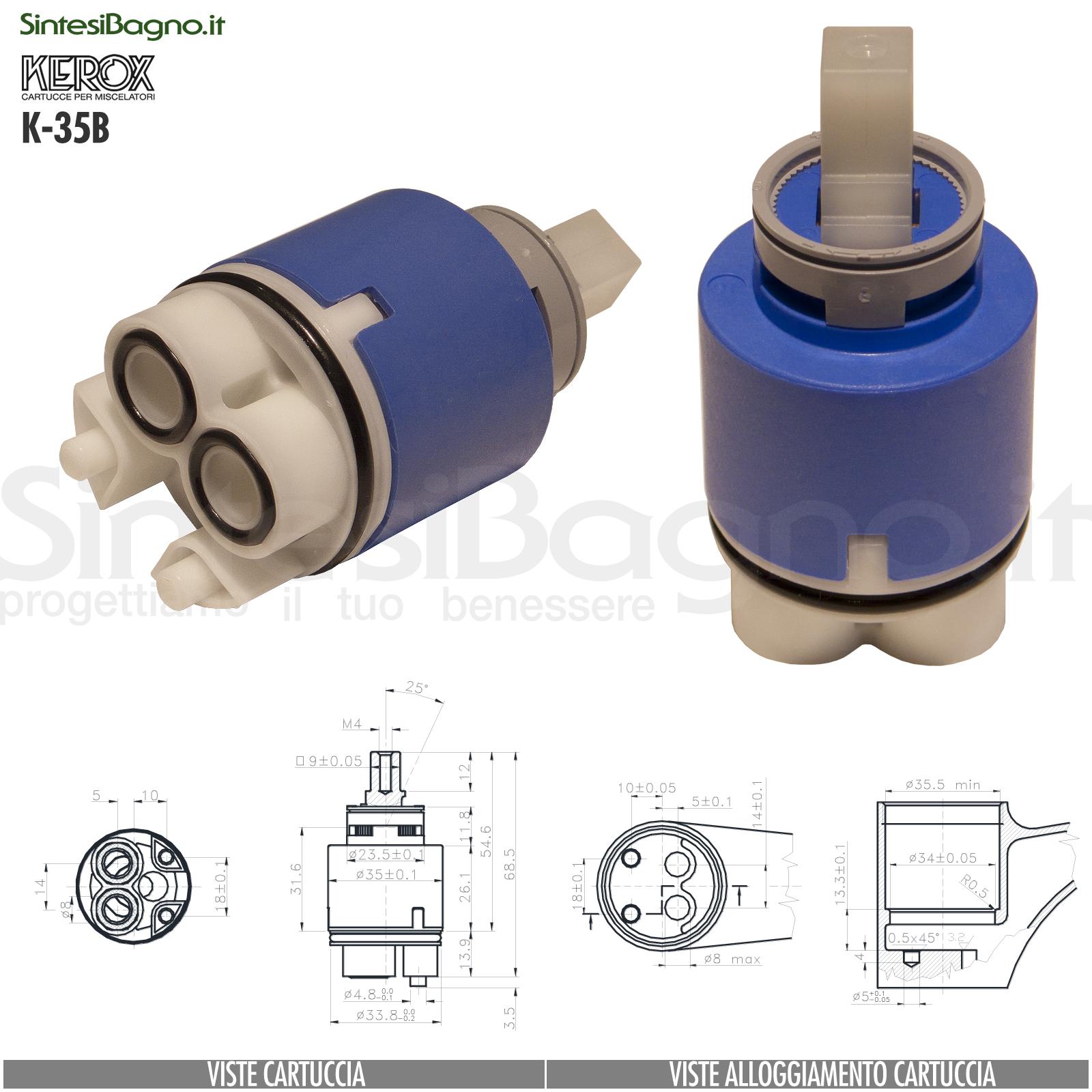 K35B-cartuccia-di-ricambio-KEROX-a-dischi-ceramici-per-miscelatore-monocomando-modello-K-35B