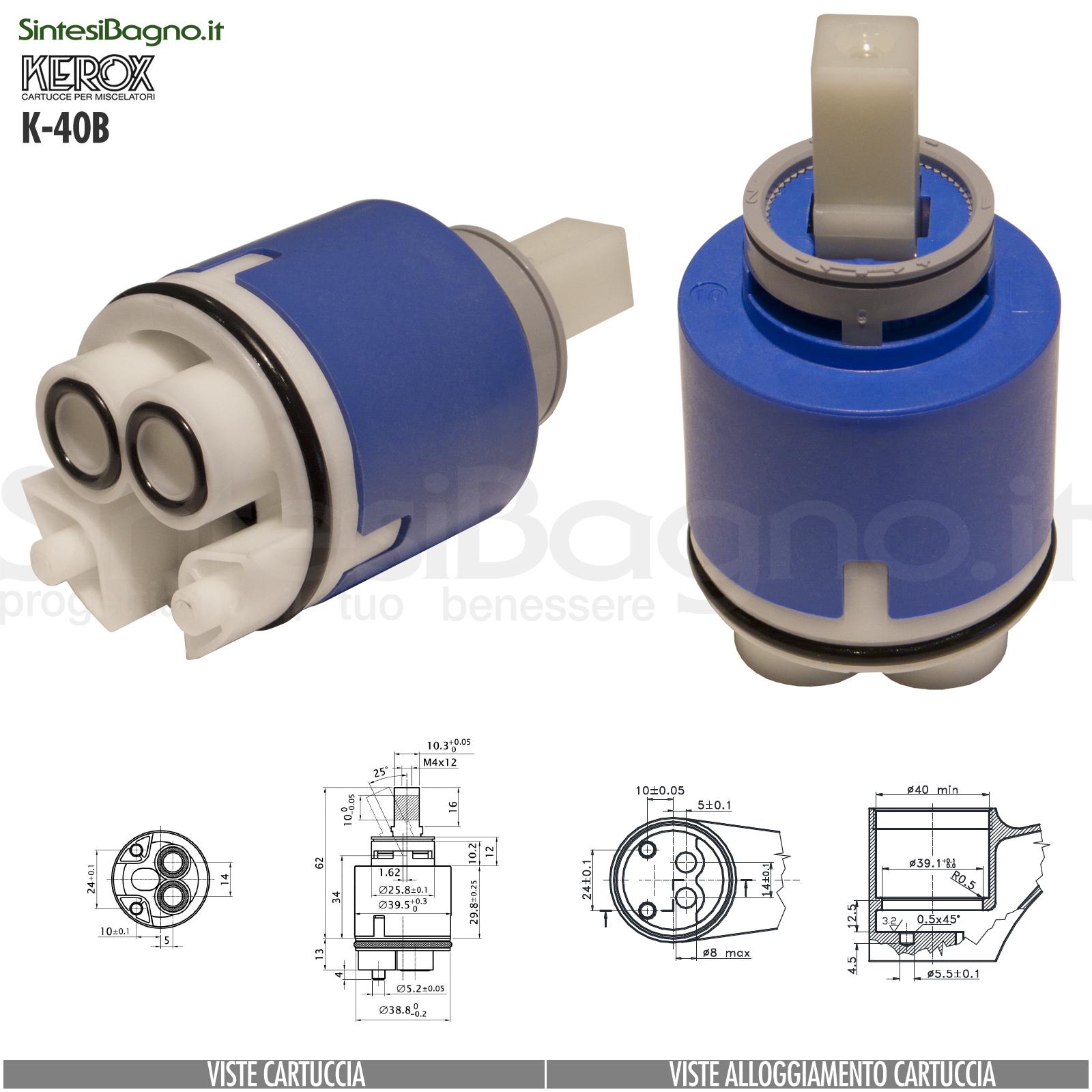 K40B-cartuccia-di-ricambio-KEROX-a-dischi-ceramici-per-miscelatore-monocomando-modello-K-40B
