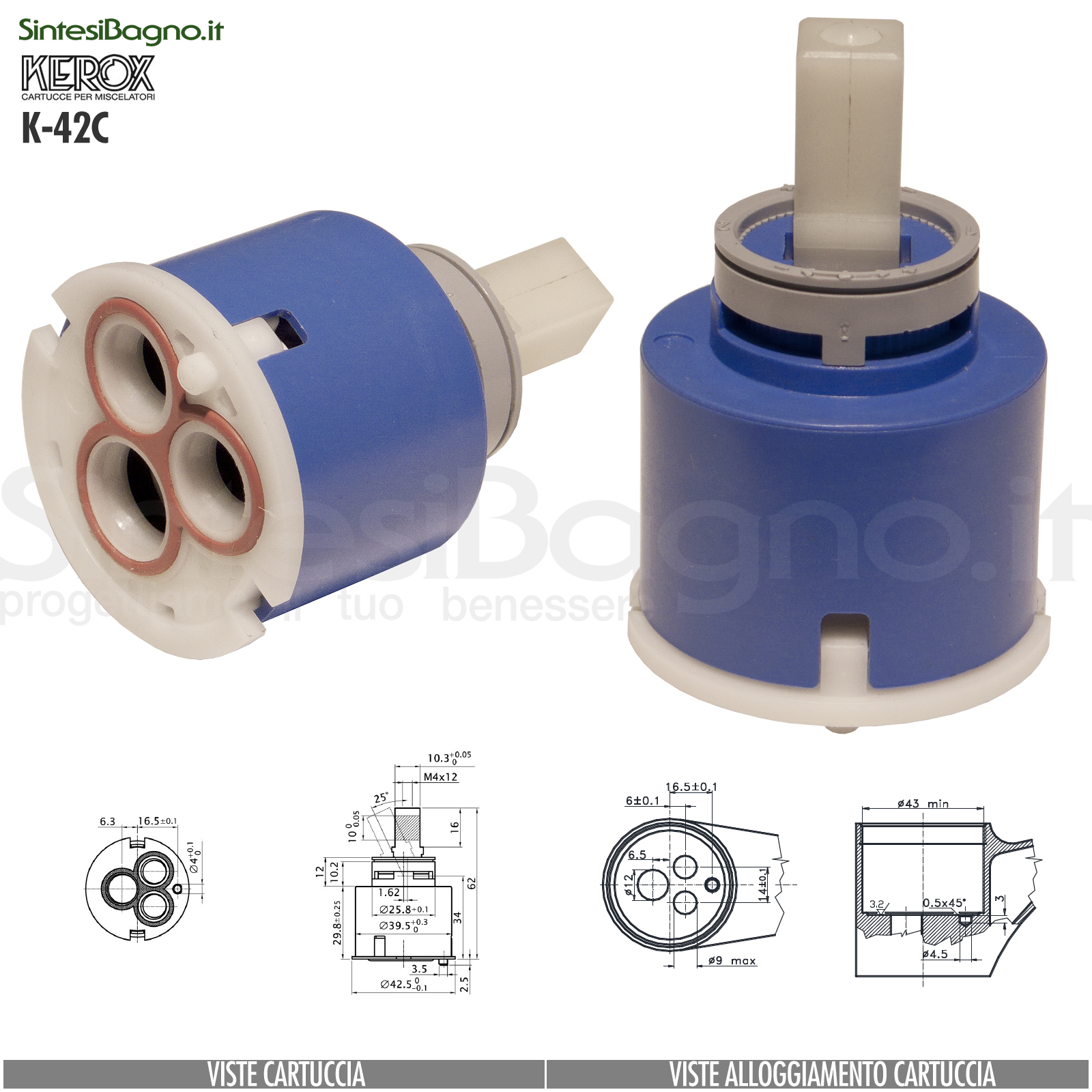 K42C-cartuccia-di-ricambio-KEROX-a-dischi-ceramici-per-miscelatore-monocomando-modello-K-42C