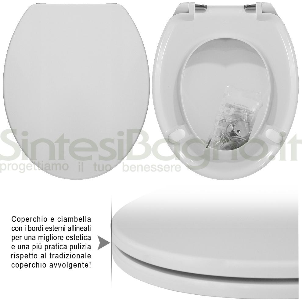 Copriwater DEDICATO vaso KERAMAG serie KOBLENZ linea PLUS | Cerniere acciaio inox rallentate / Soft Close