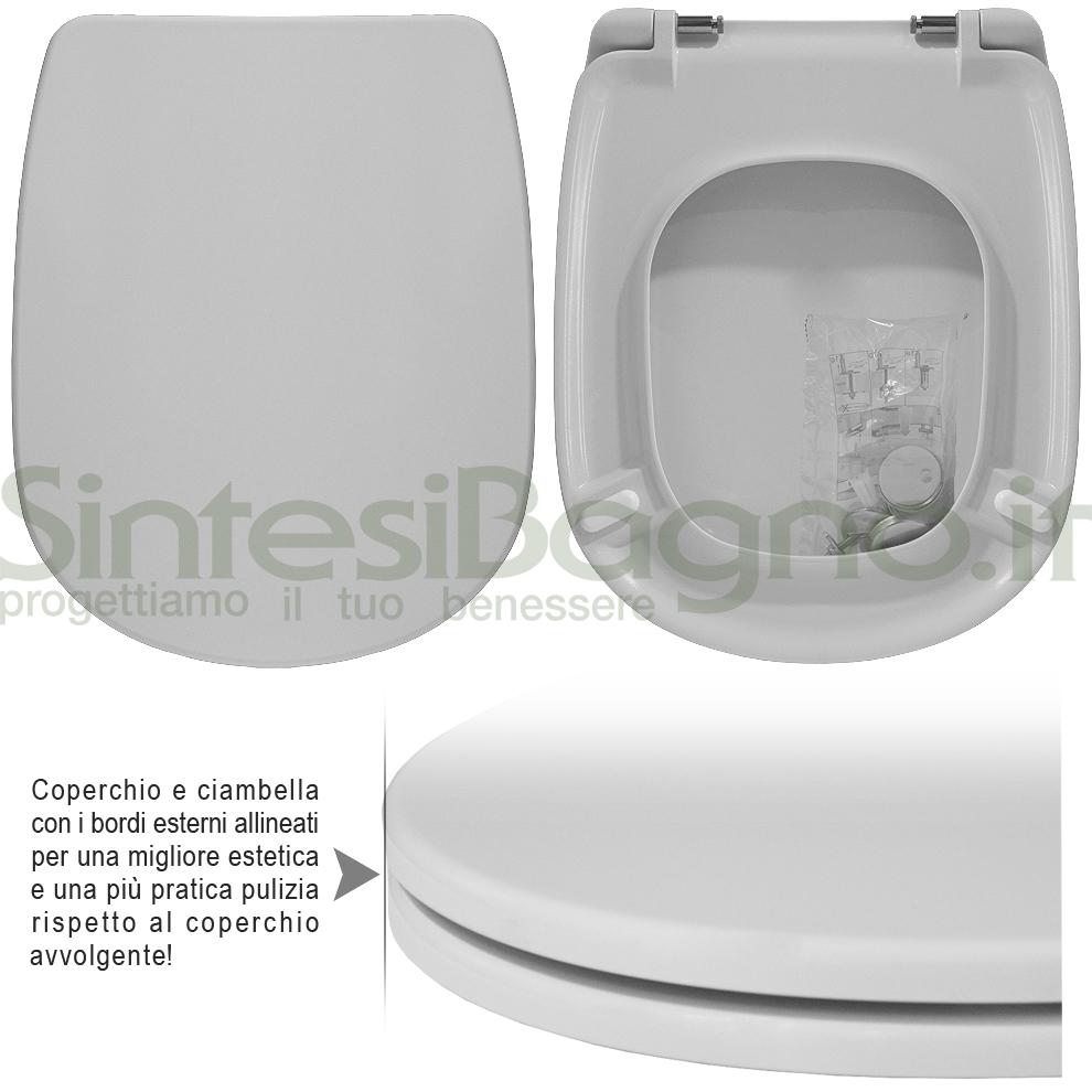 Copriwater DEDICATO vaso INCEA serie NUBE / NUBE Monoblocco linea PLUS | Cerniere acciaio inox rallentate / Soft Close