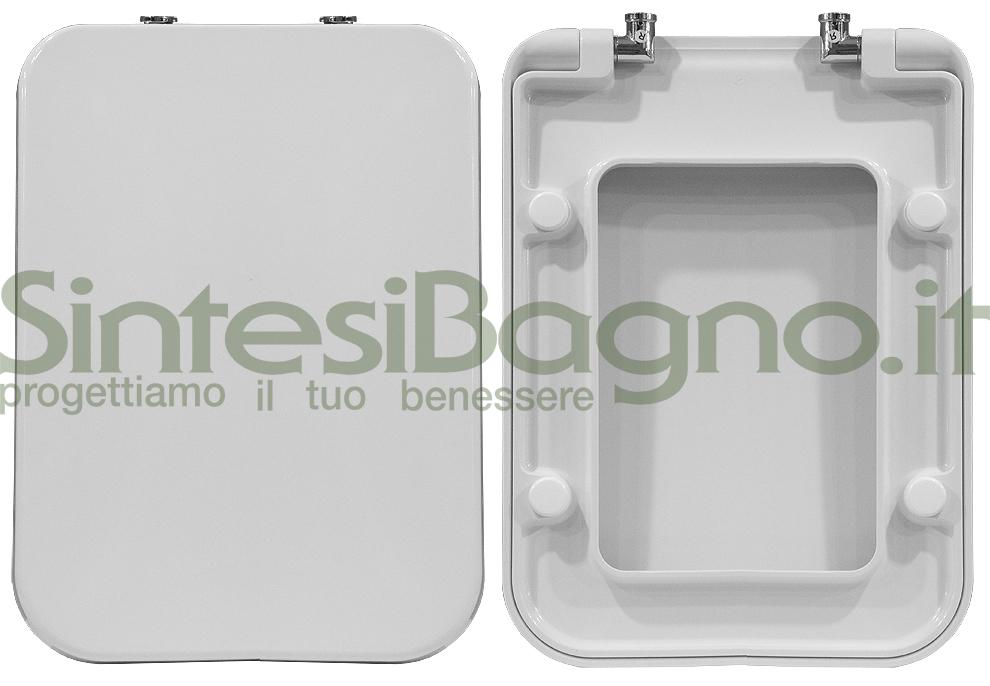 Copriwater > SERIE 900 > Pozzi Ginori > Originale > Termoindurente > Bianco > Coperchio avvolgente > Cerniere Soft-Close