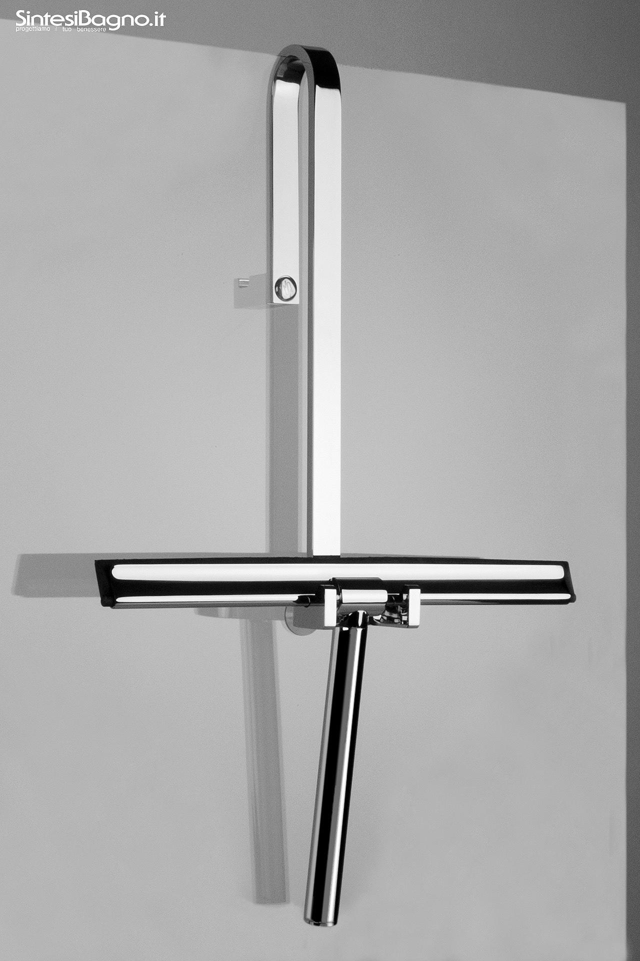 """Tergivetro doccia """"ACQUACLEAN"""" > Con porta tergivetro per box doccia con porta accappatoio esterno"""