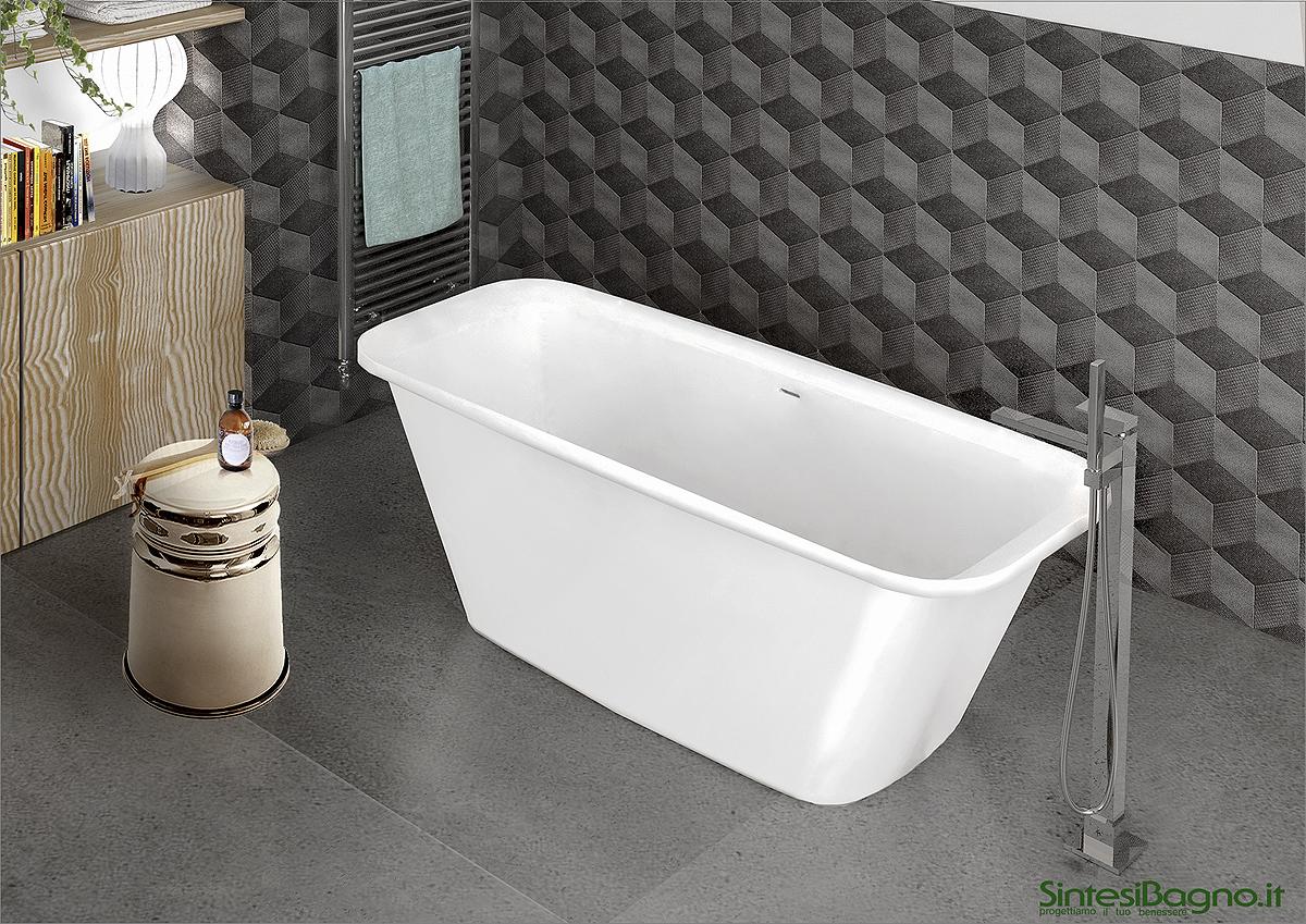 Vasca da bagno in marmoresina PONSI modello ALFA