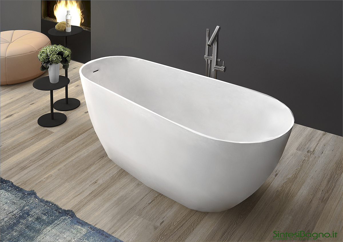 Vasca da bagno in marmoresina PONSI modello BETA - SINTESIBAGNO.NETWORK