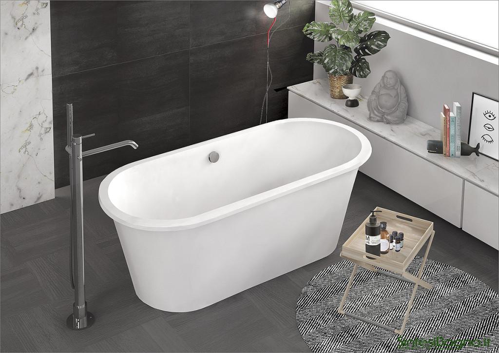 Vasca da bagno in marmoresina PONSI modello DELTA