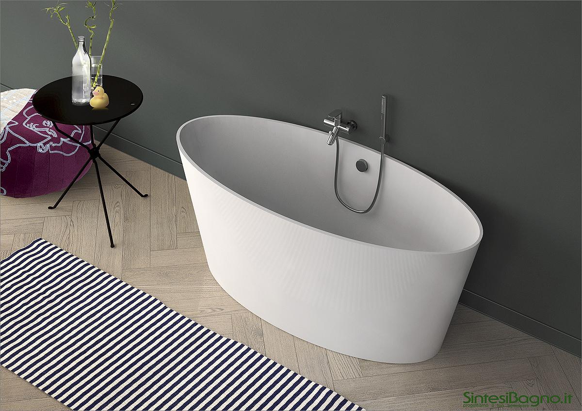 Vasca da bagno in marmoresina PONSI modello SIGMA