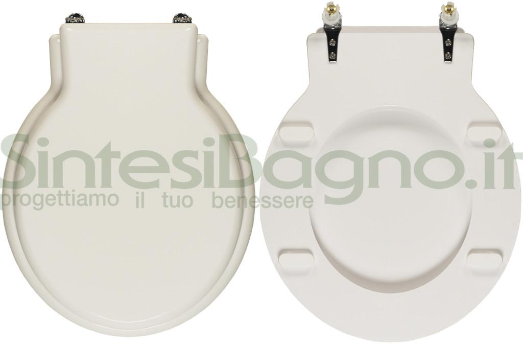Copriwater > ZELIG > Dolomite > Dedicato > Legno rivestito / Ottone cromato > Bianco > Top Quality