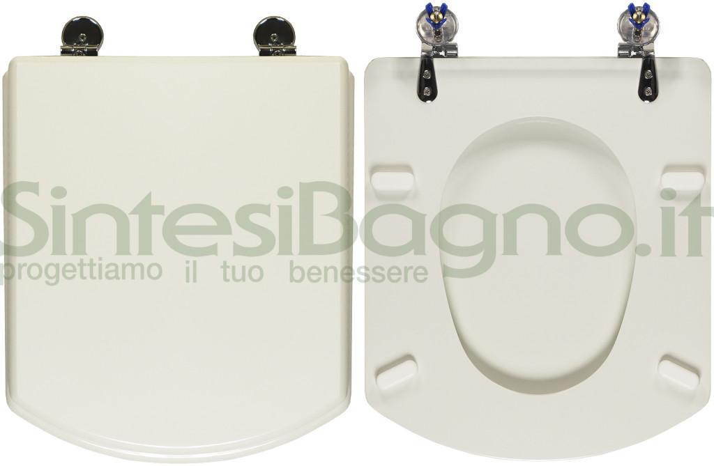 Copriwater > HALL > Roca > Dedicato > Legno rivestito / Ottone cromato > Bianco > Top Quality